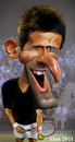 Cartoon: Novak Djokovic (small) by Alan HI tagged nole,novak,djokovic
