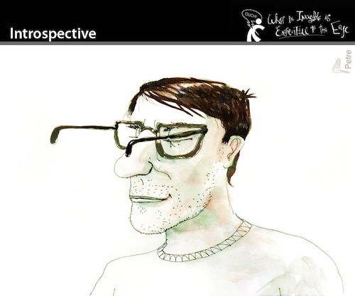 Cartoon: Introspective (medium) by PETRE tagged insight,toughts