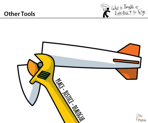 Cartoon: Other Tools (medium) by PETRE tagged peace,dialogue,justice
