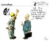 Cartoon: Camouflage (small) by PETRE tagged politics correction education speechs