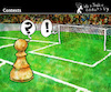 Cartoon: Contexts (small) by PETRE tagged context field futbol chess