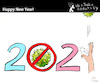Cartoon: Happy New Year (small) by PETRE tagged newyear,covid19,pandemic,2021