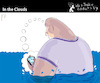 Cartoon: In the Clouds (small) by PETRE tagged facebook twitter nets phones internet