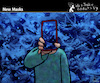Cartoon: New Masks (small) by PETRE tagged mask face maske smartphone socialnetwork camouflage
