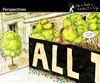 Cartoon: Perspectives (small) by PETRE tagged crowd,people,manifestation,politics