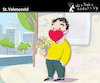 Cartoon: St. Valencovid (small) by PETRE tagged valentine covid love romance