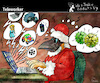 Cartoon: Teleworker (small) by PETRE tagged telework telearbeit santaclaus christmas weihnachten