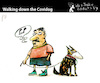 Cartoon: Walking down the Covidog (small) by PETRE tagged covid19 secondwave pandemic coronavirus hund dog
