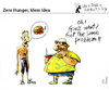 Cartoon: Zero Hunger - Idem Idea (small) by PETRE tagged food nutrition injustice