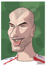 Cartoon: Zinedine Zidane (small) by PETRE tagged zidane,football,caricature