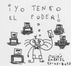 Cartoon: 13-05-2013 (small) by Juli tagged quinpha,democracia,democracy,voto,vote,eleccion,election,poder,power,pueblo,people