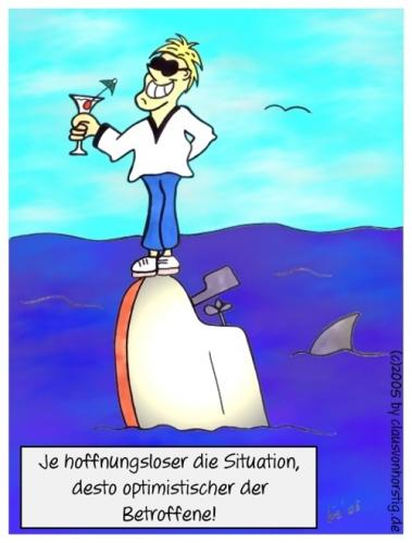 Cartoon: Optimist (medium) by cvhmedia tagged optimisten,untergang,krise