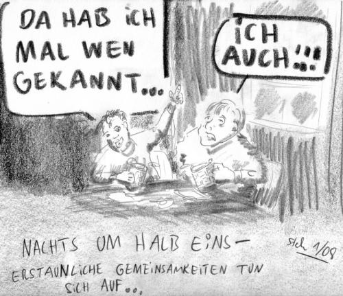 Cartoon: Nachts um halb eins (medium) by Matthias Stehr tagged scribble