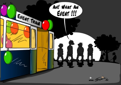 Cartoon: EventTram (medium) by Trumix tagged event,eventtram,fest,party,strassenbahn,tram,trummix