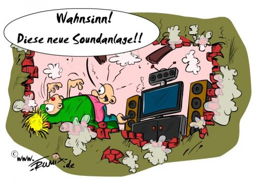 Cartoon: Feel the music (medium) by Trumix tagged sound,musik,subwoover,lärm,mp3