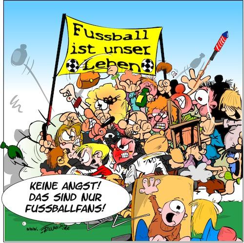 Fussballfans Von Trumix Sport Cartoon Toonpool