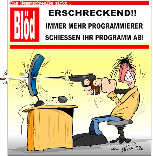 Cartoon: Gewaltexzesse bei Programmierer (medium) by Trumix tagged programmierer,hacker,programm,entwickler,breaking,news,programmierer,hacker,programm,entwickler,breaking,news