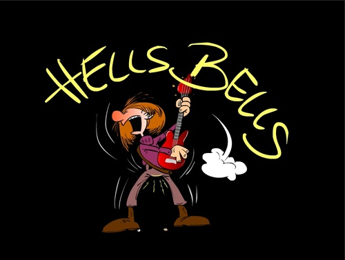 Cartoon: Hells Bells (medium) by Trumix tagged gitarre,music,rock,hardrock,trummix,dc,ac