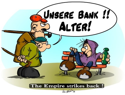 Cartoon: The empire strikes back ... (medium) by Trumix tagged empire,rentner,penner,krise,wirtschaftskrise