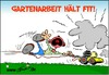 Cartoon: Gartenarbeit (small) by Trumix tagged gartenarbeit,fit,ness