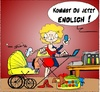 Cartoon: Homeoffice (small) by Trumix tagged frauenarbeit,frauenquote,homeoffice,trummix