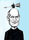Cartoon: Steve Jobs (small) by gartoon tagged people,entrepreneur,marketer,inventor