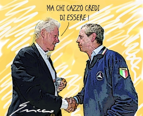 Cartoon: GRANDI (medium) by Grieco tagged grieco,clinton,bertolaso,satira,rocco,vignette