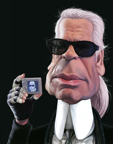 Cartoon: Karl Lagerfeld (medium) by penava tagged karikatur,caricature,mode,fashion,designer,karl,lagerfeld,karikatur,karikaturen,karl lagerfeld,mode,design,karl,lagerfeld