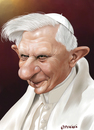 Cartoon: Benedikt XVI (small) by penava tagged karikatur caricature benedict benedikt papst pope katholisch catholic