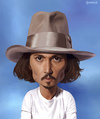 Cartoon: Johnny Depp (small) by penava tagged us,schauspieler,actor,celebrity,pirates,caribbean,film,movie
