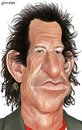 Cartoon: Keith Richards (small) by penava tagged keith,richards,karikatur,caricature,rolling,stones,guitar,player,musician,musiker,rock,music