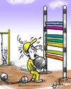 Cartoon: Cricket (small) by crowpoint tagged sreeshanth,cricket,bcci,fixing,spot,india,kerla,ipl,cl,champions,league