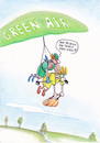 Cartoon: green air (small) by Petra Kaster tagged urlaub,flugreisen,preisdumping,billigflüge,fllugzeuge,bordpersonal,dienstleistungsgewerbe