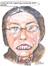 Cartoon: A wee bit of trouble (small) by jjjerk tagged rosie martin cartoon glasses caricature play teeth irish ireland