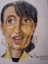 Cartoon: Aung San Suu Ky (small) by jjjerk tagged burma,woman,politician,ky,aung,san,suu