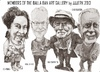 Cartoon: Balla Ban Art Gallery members (small) by jjjerk tagged balla bawn dearbhla gallery ray sherlock dave gleeson westbury mall dublin ireland irish cartoon caricature overcoat glass wine artist junk sale famous