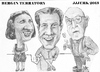 Cartoon: Bergin terratory (small) by jjjerk tagged bergin johanna brian cartoon caricature glasses irish trio ireland