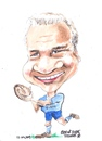 Cartoon: Brent Pope (small) by jjjerk tagged brent,pope,new,zealand,zurich,cartoon,caricature,rugby,ireland,irish,blue,ball