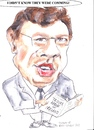 Cartoon: Brian Cowan (small) by jjjerk tagged cowan brian fianna fail irish ireland cartoon caricature politician glasses