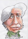 Cartoon: Christine Legarde (small) by jjjerk tagged international,monetary,fund,christine,legarde,french,lawyer,green,scarf,france,cartoon,caricature