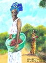 Cartoon: Collecting fruit in Africa (small) by jjjerk tagged africa,woman,green,fruit,cartoon,caricature
