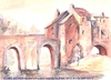 Cartoon: Elvett Bridge Durham England (small) by jjjerk tagged merriott,elvett,bridge,durham,england,cartoon,english,painter,artist,river