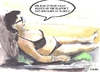 Cartoon: In the Spanish sun (small) by jjjerk tagged mary,spain,ben,el,madina,ireland,irish,cartoon,caricature