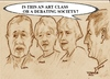 Cartoon: Is this an art class? (small) by jjjerk tagged art coolock library group cartoon caricature painters philip liam anne mona