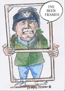 Cartoon: Ive been framed (small) by jjjerk tagged paddy coolock library art group peter frame wood blue cartoon caricature