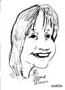 Cartoon: Kate (small) by jjjerk tagged kate cartoon caricature girl dublin ireland irish portrait