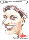 Cartoon: Margaret (small) by jjjerk tagged margaret red cartoon caricature curlers earring play