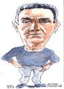 Cartoon: Michael (small) by jjjerk tagged michael,bell,centre,dublin,irish,ireland,darndale,cartoon,caricature,portrait,blue