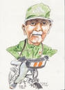 Cartoon: Paddy on his bicycle (small) by jjjerk tagged paddy,bicycle,cartoon,caricature,irish,ireland,green,artist,painter