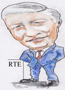 Cartoon: Pat kenny (small) by jjjerk tagged pat,kenny,rte,cartoon,caricature,broadcaster,famous,people,tie,red,blue,irish,ireland